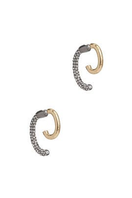Pave Luna Convertible Earrings by DEMARSON