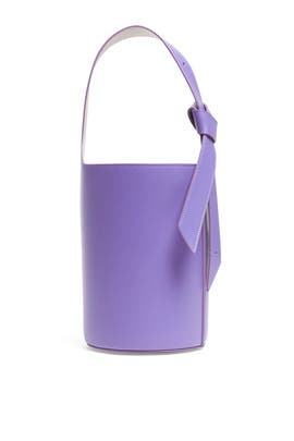 Violet Lily Mini Bucket Bag by GIAQUINTO
