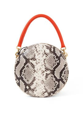 Python Circle Clutch by Clare V.