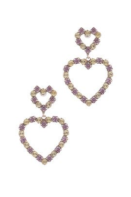Multi Regina Heart Earrings by Dannijo