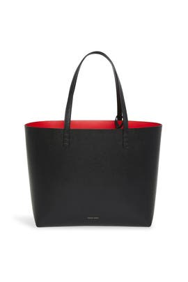 Black Flamma Saffiano Large Tote by Mansur Gavriel Accessories