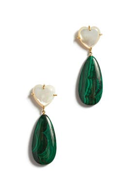 Green Roumana Earrings by Lizzie Fortunato