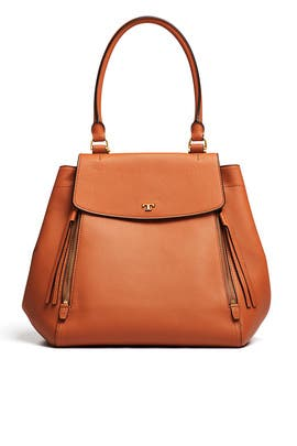 fe86ac68d258f Tan Half Moon Tote by Tory Burch Accessories for  90
