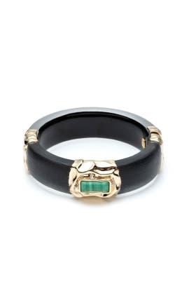 Crumpled Gold Hinge Bracelet by Alexis Bittar