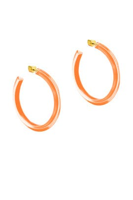 Neon Orange Medium Jelly Hoops by Alison Lou