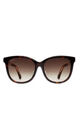 Havana Green Sunglasses by Gucci