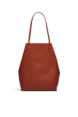 Biscotto Leather Tote by Jil Sander Navy Handbags