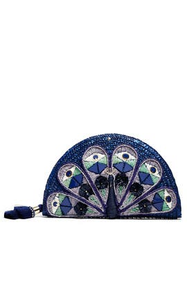 Straw Peacock Clutch by kate spade new york accessories