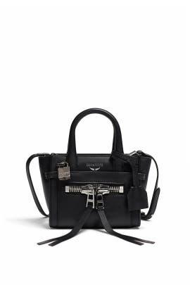 Noir Candide Nano Zip Satchel by Zadig & Voltaire Handbags