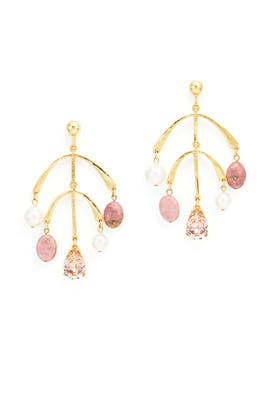 Rose Mobile Drop Earrings by Oscar de la Renta