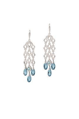 Blue Skies Chandelier Earrings by Jenny Packham