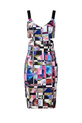Cubist Print Sheath by Milly