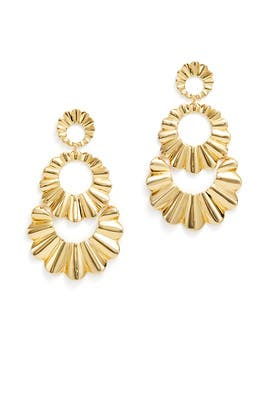 Scrunched Scallop Earrings by kate spade new york accessories
