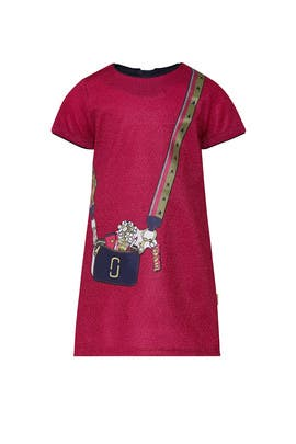Kids Trompe L'oeil Snapshot Dress by Little Marc Jacobs