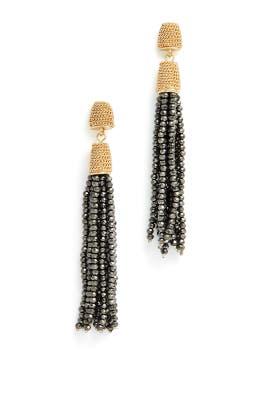 Two Tone Tassel Earrings by Slate & Willow Accessories