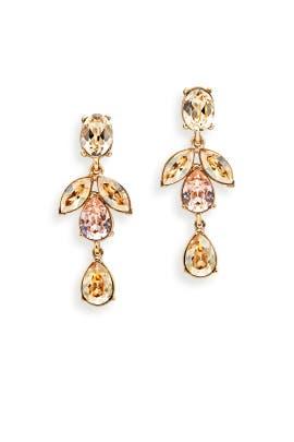 Gold Shadow Crystal Earrings by Oscar de la Renta