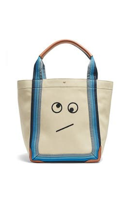 Canvas Amused Face Pont Tote by Anya Hindmarch