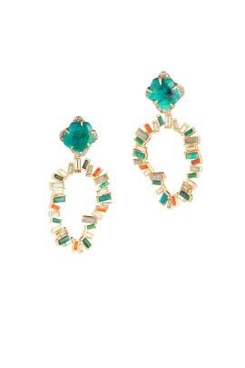 Dancing Baguette Earrings by Alexis Bittar