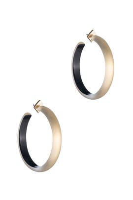 Gold Large Slim Hoops by Alexis Bittar