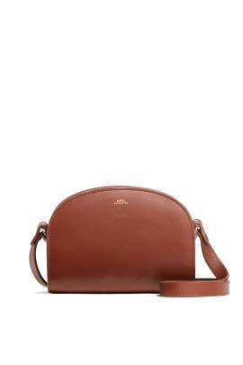 Brown Demi Lune Mini Bag by A.P.C Accessories