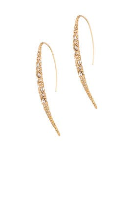 Pave Spike Earrings by Alexis Bittar