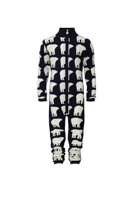 Kids Polar Bear Print Onesie  by Perfect Moment Kids
