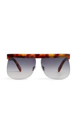 Tortoise D Frame Sunglasses by Courréges
