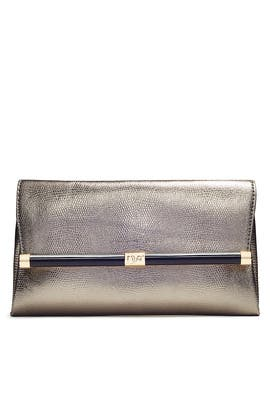 Lizard Envelope Clutch by Diane von Furstenberg Handbags