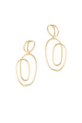 Gold Knot Earrings by Joanna Laura Constantine