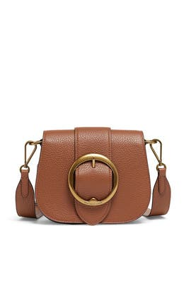 Saddle Pebbled Leather Lennox Bag by Polo Ralph Lauren Accessories
