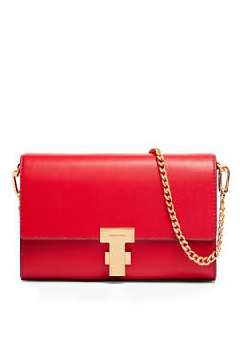 Red Juliette Clutch by Tory Burch Accessories