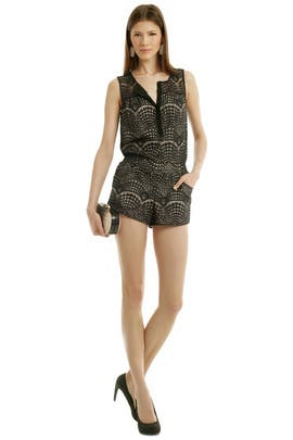 Gym Short Romper by Twelfth Street by Cynthia Vincent