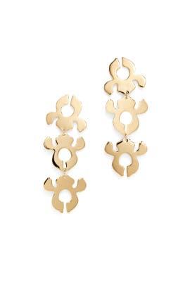 Iris Bouquet Shadow Earrings by Lele Sadoughi