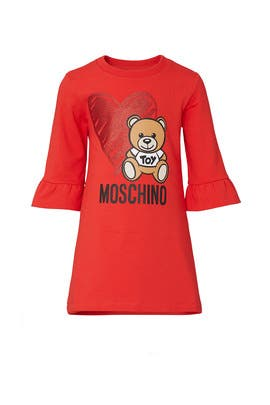 Kids Toy Bear Dress by Moschino Kids
