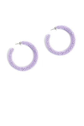 Lilac Beaded Hoops by Sachin & Babi Accessories