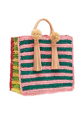 Multi Straw Travel Tote by Loeffler Randall