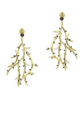 Thorn Vine Earrings by Noir Jewelry
