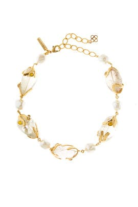 Caged Bead Necklace by Oscar de la Renta