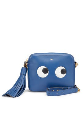 Blueberry Circus Eyes Crossbody by Anya Hindmarch