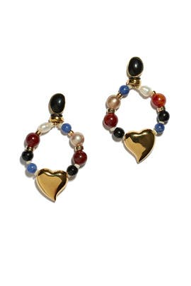 Candy Heart Earrings by Lizzie Fortunato