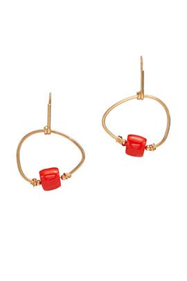 Orange Drop Hoops by Marni Accessories