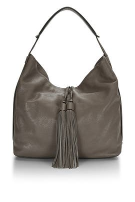 Graphite Isobel Tassel Leather Hobo by Rebecca Minkoff Accessories