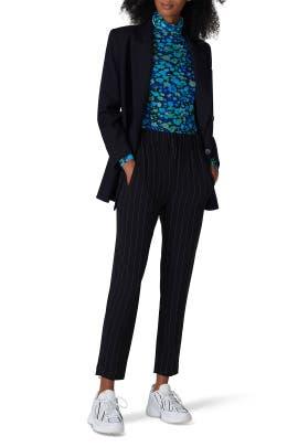 Black Pinstripe Pants by GANNI