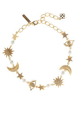 Moon And Stars Necklace by Oscar de la Renta
