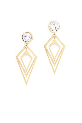 Gold Pointilist Orbita Earrings by Sarah Magid