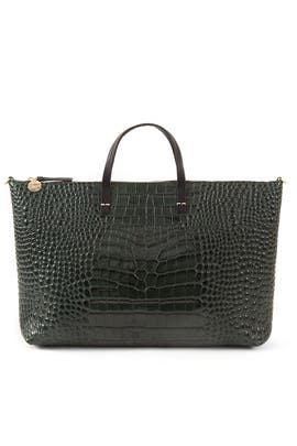 Green Attache Tote by Clare V.