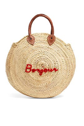 Le Cercle Straw Bag by Poolside