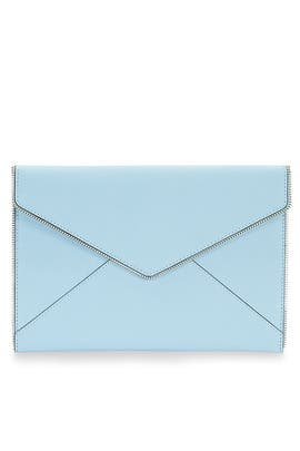 Sky Blue Leo Clutch by Rebecca Minkoff Accessories