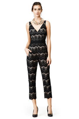 Waves of Lace Jumpsuit by Tracy Reese