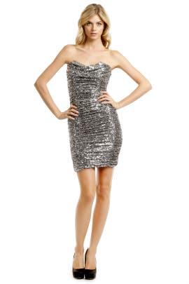 573b85d170 Badgley Mischka. Read Reviews. Silver Sequin Cocktail Dress